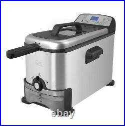 ELECTRIC DEEP FRYER 3 Liter Compact Oil Filtration Stainless Steel Basket