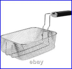 ELECTRIC DEEP FRYER 4 Liter Compact Oil Filtration Stainless Steel Basket