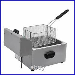 ETL Certified Electric Countertop Deep Fryer Stainless Steel Single Basket 8L