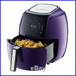 Electric Air Fryer Touchscreen Preset Timer Temp Control Alarm Deep Fryer Purple