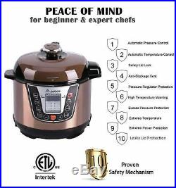 Electric Commercial Pressure Deep Fryer Chicken Cooking Stainless Steel 3 Quart