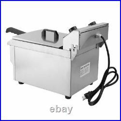 Electric Countertop Deep Fryer 13L Tank Commercial Restaurant 1650W ZE