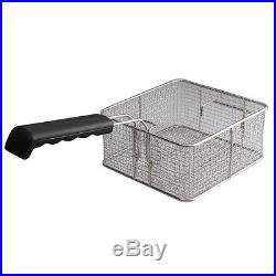 Electric Countertop Deep Fryer 20L Dual Tank Commercial Restaurant Meat withFaucet