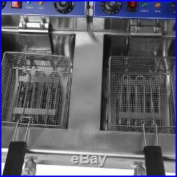 Electric Countertop Deep Fryer 3300W Dual Tank 26 Liter Commercial Restaurant MY