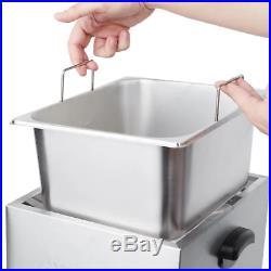 Electric Countertop Deep Fryer Basket Restaurant Cooker Home Stainless Steel New