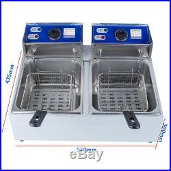 Electric-Countertop-Deep-Fryer-Double-Tank-Commercial-Restaurant-5000W-11Liter