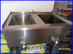 Electric Countertop Deep Fryer Dual Tank Commercial Restaurant Steel with Nozzle