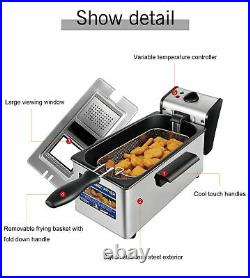 Electric Deep Fryer 3L French Frie Frying Machine Oven Hot Pot Fried Chicken Gri