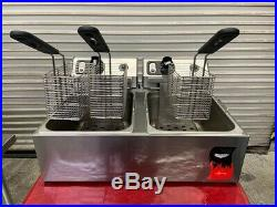 Electric Deep Fryer Counter Top 3 Baskets 220V Vollrath FFA 8020 40708 #3747