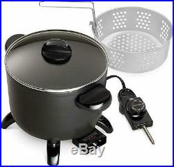 Electric Deep Fryer Home Restaurant Kitchen Kettle Multi Cooker Steamer Tabletop