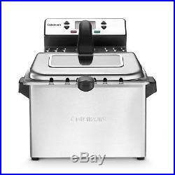 Electric Deep Fryer Large Stainless Steel Frying Basket Kitchen Countertop 4 qt