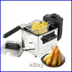 Electric Deep Fryer Single Tank Frying Pot Basket Strainer Machine Cooking Tools