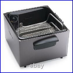 Electric Deep Fryer Stainless Steel Cooker Dual Basket Extra Large Enameled pot