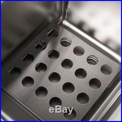 Electric Fryer Pan Dual Deep Commercial Cooking 12L 5000W Air Frying Basket