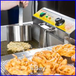 Electric Funnel Cakes Deep Fryer Donut Elephant Ear 240V Concession Commercial