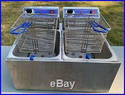 Electric counter-top, dual basket, 32 lb capacity deep fryer