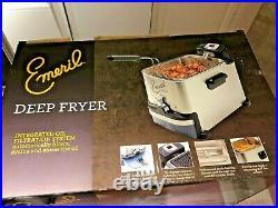 Emeril by T-fal F-36 Stainless Steel Digital Deep Fryer 3.3 Liter