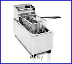 Eurodib Stainless Steel Electric Countertop Fryer 2.2gal Cap. 120V