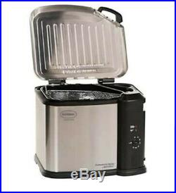 Extra Large Electric Deep Fryer Indoor Temp Control to 20 Lb Turkey Thanksgiving