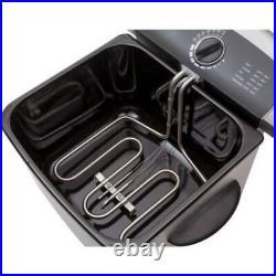 FARBERWARE 4L Dual Deep Fryer Stainless Steel Frying Basket Handle Fry Pot Set