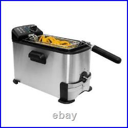 Farberware Home Electric Deep Fryer Countertop 3 Liter Stainless steel Fries NEW