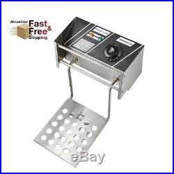 Flexzion Electric Deep Fryer Tank Countertop Basket 6L for Commercial Restaurant