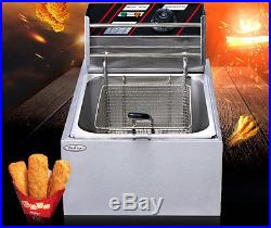 Free shipping 6L 2500W Countertop Electric Stainless Steel Commercial Deep Fryer