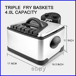 Freidora Electrica Acero Inoxidable Filtro De Olor Electric Deep Fryer Timer