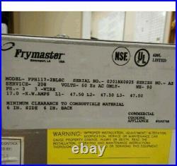 Frymaster Electric Deep Fryer Fph117sc 2 Basket 208v