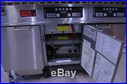Frymaster FMH222BLSC 480V 2-Bay Electric Deep Fryer with Filter Magic II