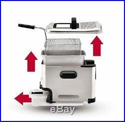 GENUINE T-fal FR8000 Stainless Steel Ultimate EZ Oil Filtration Deep Fryer NEW