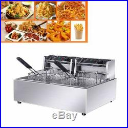 GLF 110V Commercial Electric Deep Fryer with Basket 12L Tabletop Machine for Fry