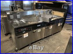 Giles 3 Bay Electric Commercial Deep Fryer withDump Station EOF, 10,10,24,24, comp