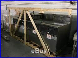 Giles 3 Bay Electric Commercial Deep Fryer withDump Station EOF, 20,24,24, comp