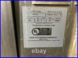 Giles Commercial Restaurant 4 Bay Electric Deep Fryer / 3X EOF-24 / 1X EOF-BIB
