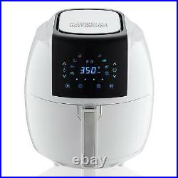 GoWISE USA Air Fryer Recipe Book 5.8 Qt 8 In 1 Touch Screen White Detachable