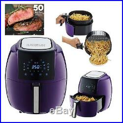 GoWISE USA Electric Air Fryer Cooker Frying Kitchen Cooking 5.8 Quart 8 in 1 Hot