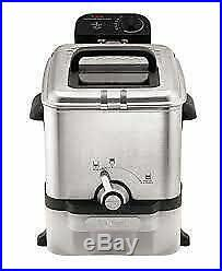 HOT T-fal Deep Fryer with Basket, Stainless Steel, Easy to Clean Deep Fryer, Oil