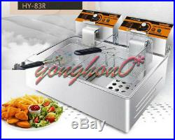 HY-83R Single Cylinder Double Screen Electric Deep Fryer Frying Oven 11L 220V