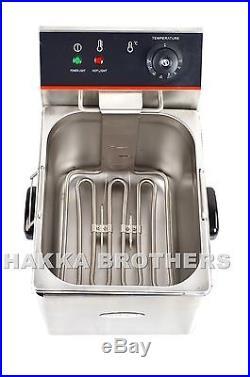 Hakka 5000W Electric Countertop Deep Fryer Dual Tank Commercial Restaurant 2x6L