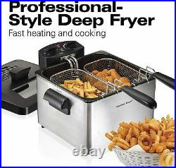 Hamilton Beach Professional Grade Electric Deep Fryer, 19 Cups / 4.5 Liters Oil