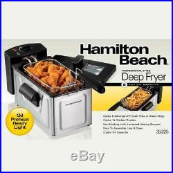 Hamilton Beach Professional Style Deep Fryer Black