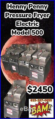 Henny Penny 500 Electric Pressure Deep Fryer-Oil Filter & Basket- 208v 3 Phase
