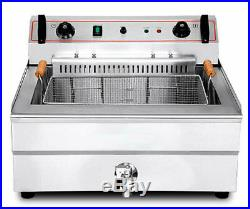 High-quality Commercial Electric Deep Fryer Single tank 20L with timer 220V