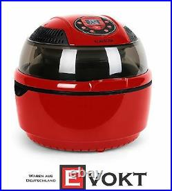 Hot Air Deep Fryer Airfryer Hot Air Oven Infrared Fat Free Grill Cooking Red 9L