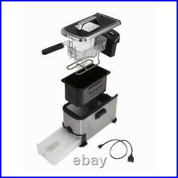 KALORIK 3.2 Qt Electric Deep Fryer Stainless Steel with Oil Filtration 1700W New