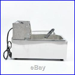 KAY 110V Commercial Electric Deep Fryer with Basket 6L Tabletop Machine for Fry