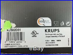 KRUPS Deep Fryer Electric Stainless Steel 3 Basket Fryer 4.5 Liter Silver KJ502D