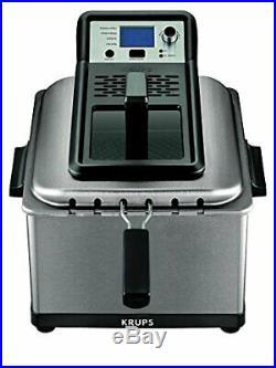 KRUPS KJ502D51 Deep Fryer, Electric Deep Fryer, Stainless Steel Deep Oil Fryer
