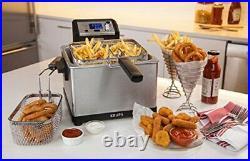 KRUPS KJ502D51 Deep Fryer Electric Deep Fryer Stainless Steel Triple Basket F